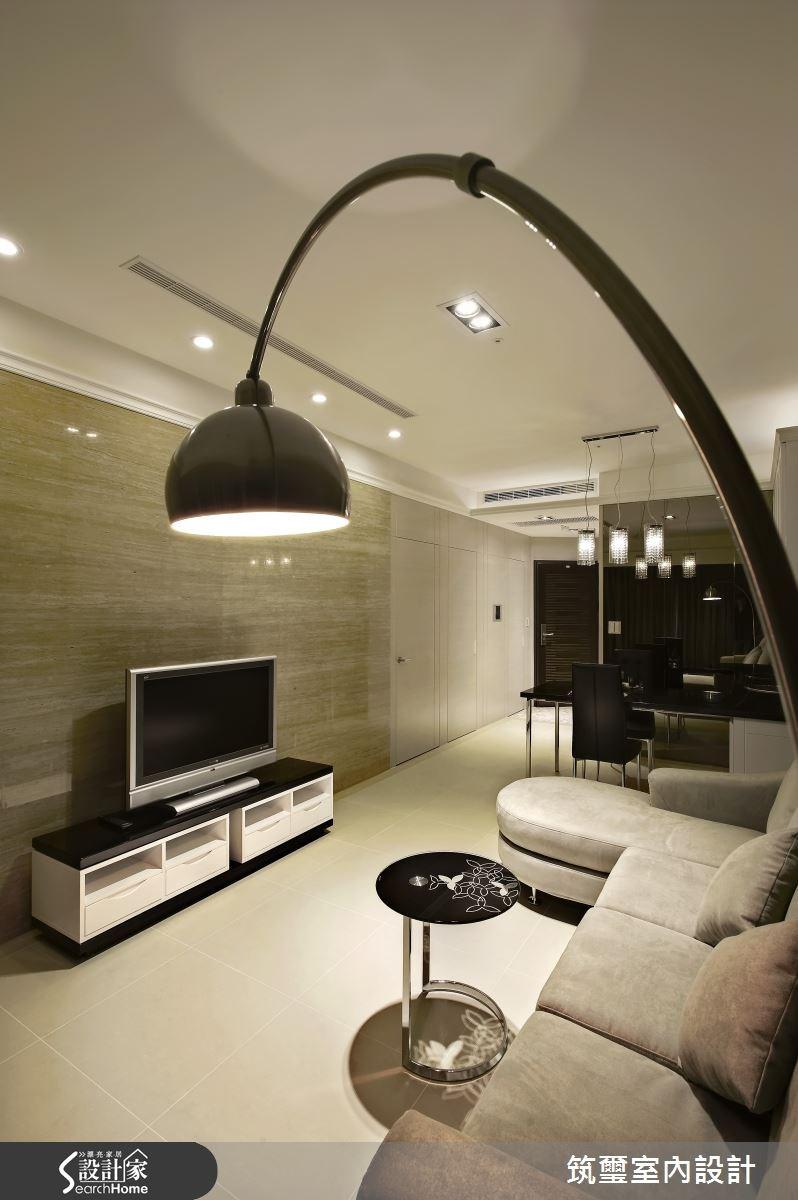 16坪新成屋(5年以下)_混搭風客廳案例圖片_筑璽室內設計_筑璽_01之4