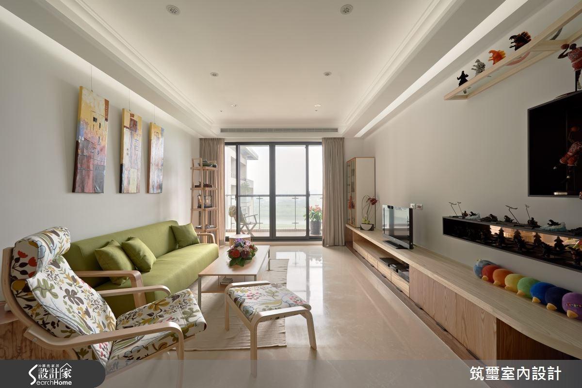 40坪新成屋(5年以下)_混搭風客廳案例圖片_筑璽室內設計_筑璽_02之1