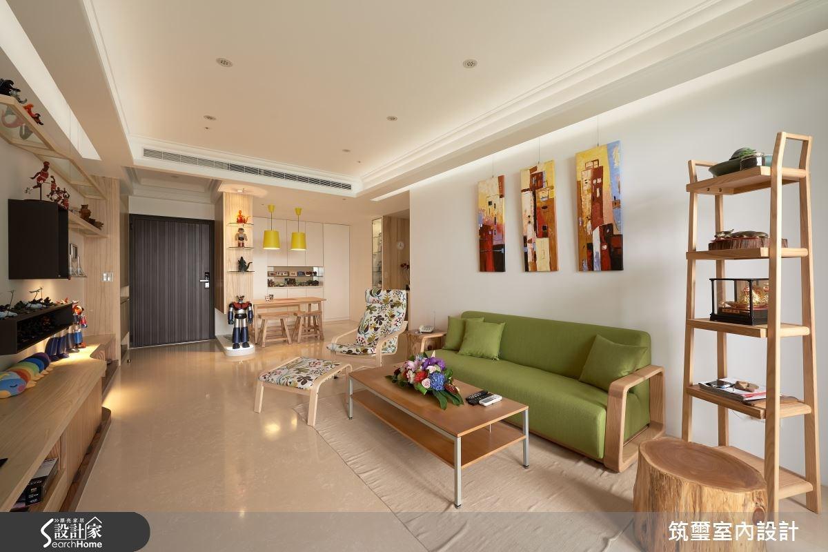 40坪新成屋(5年以下)_混搭風客廳案例圖片_筑璽室內設計_筑璽_02之3