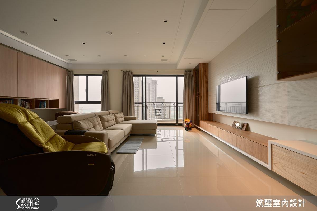 40坪新成屋(5年以下)_休閒風客廳案例圖片_筑璽室內設計_筑璽_05之1