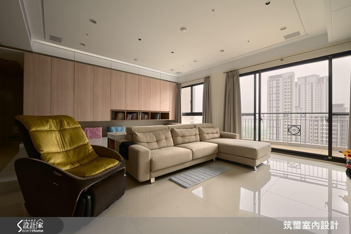 40坪新成屋(5年以下)_休閒風客廳案例圖片_筑璽室內設計_筑璽_05之2
