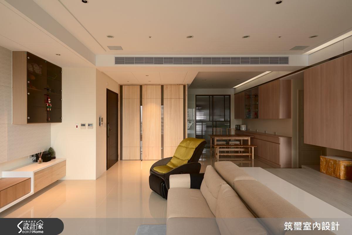 40坪新成屋(5年以下)_休閒風玄關客廳餐廳案例圖片_筑璽室內設計_筑璽_05之3