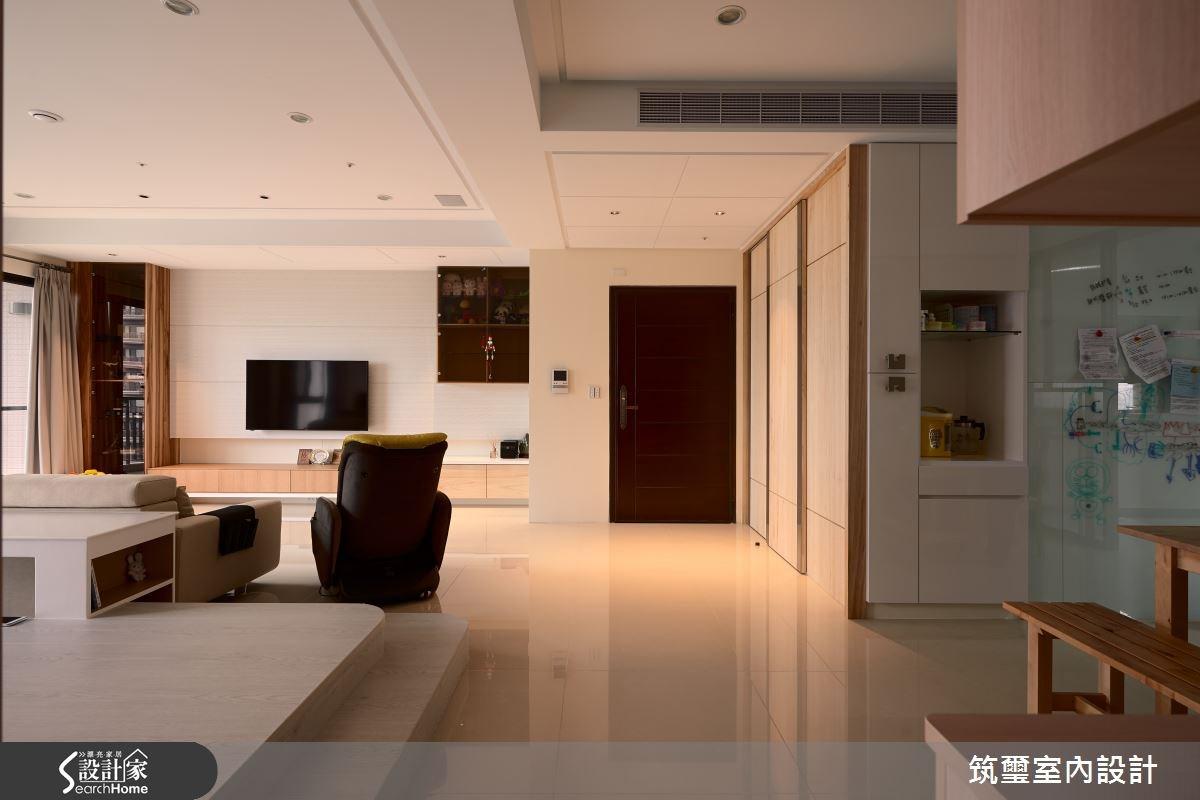 40坪新成屋(5年以下)_休閒風玄關客廳案例圖片_筑璽室內設計_筑璽_05之5