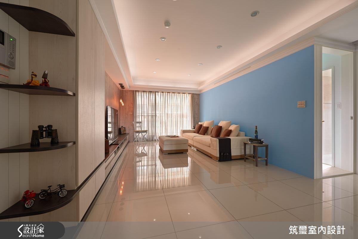 40坪新成屋(5年以下)_現代風客廳案例圖片_筑璽室內設計_筑璽_12之1
