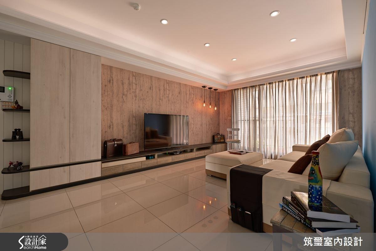 40坪新成屋(5年以下)_現代風客廳案例圖片_筑璽室內設計_筑璽_12之3