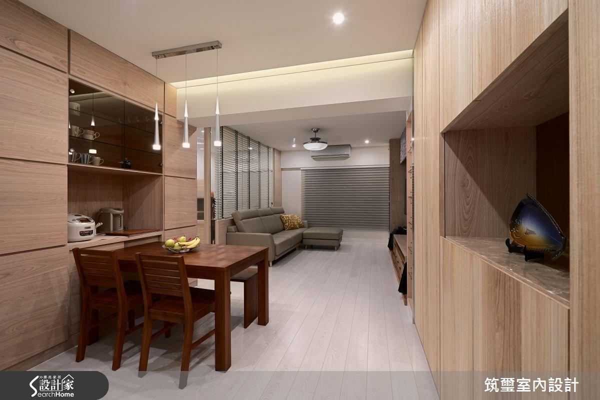 35坪新成屋(5年以下)_現代風客廳餐廳案例圖片_筑璽室內設計_筑璽_14之1