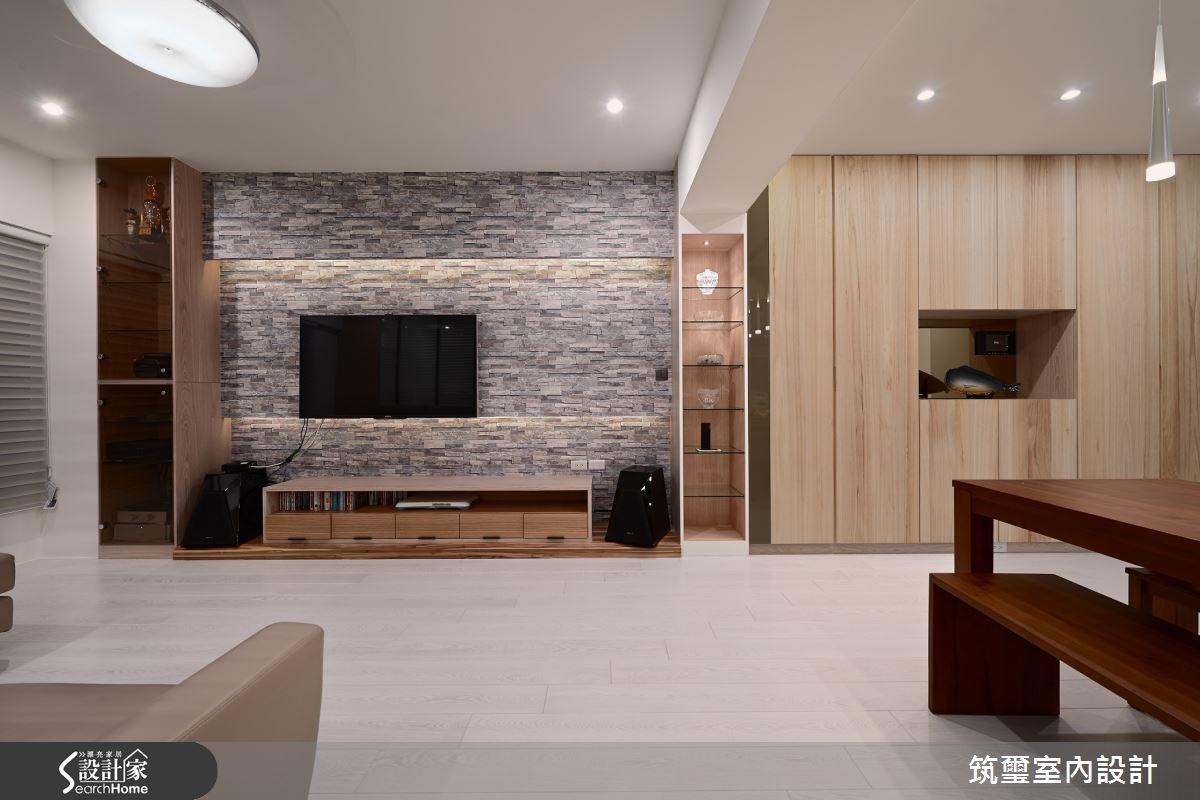 35坪新成屋(5年以下)_現代風客廳案例圖片_筑璽室內設計_筑璽_14之4