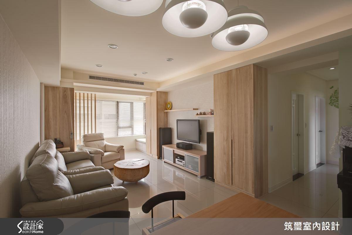 30坪新成屋(5年以下)_休閒風客廳案例圖片_筑璽室內設計_筑璽_15之1