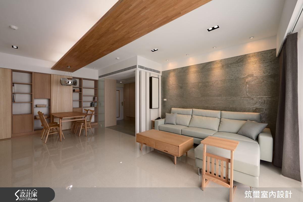 32坪老屋(16~30年)_現代風客廳餐廳案例圖片_筑璽室內設計_筑璽_16之2
