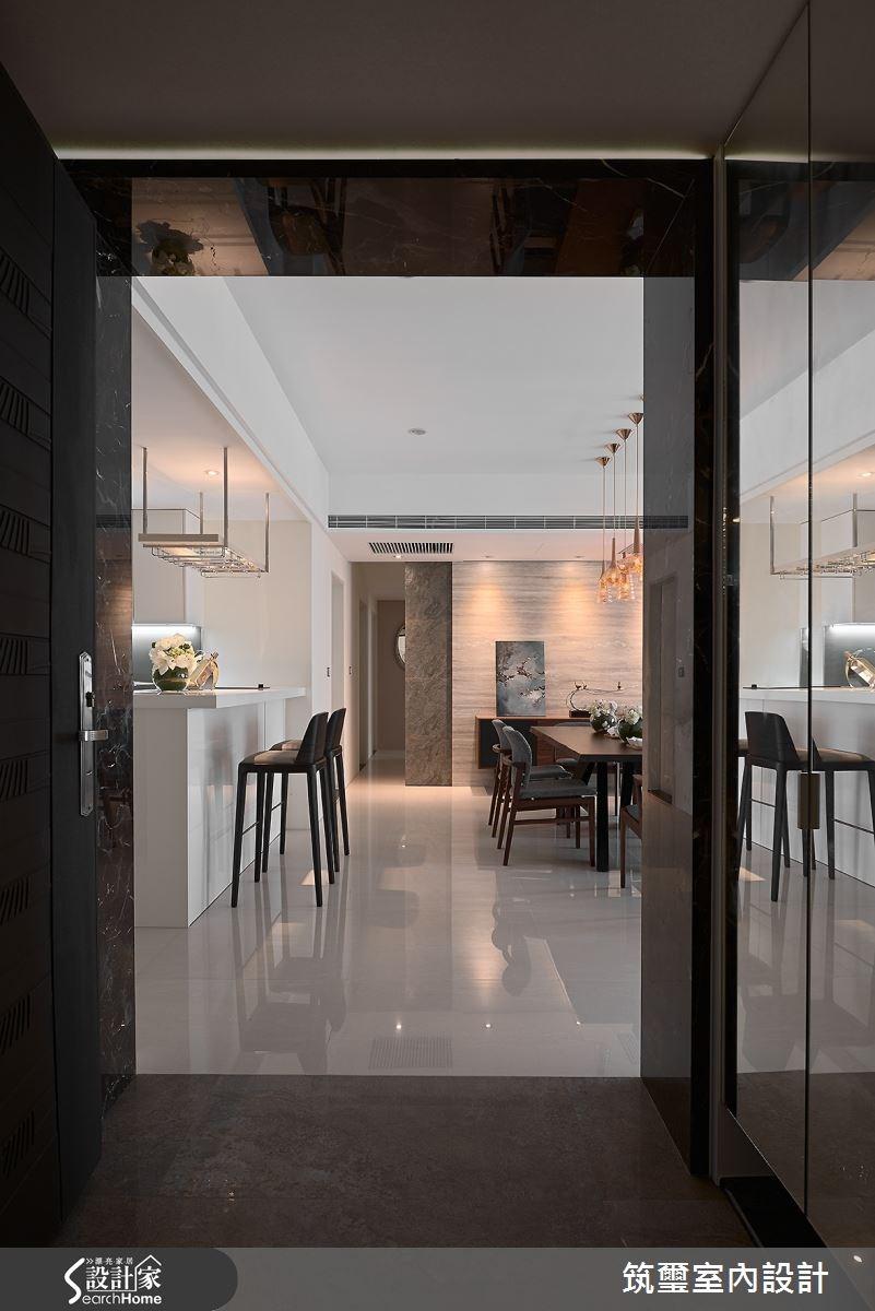 40坪新成屋(5年以下)_混搭風吧檯走廊案例圖片_筑璽室內設計_筑璽_17之1
