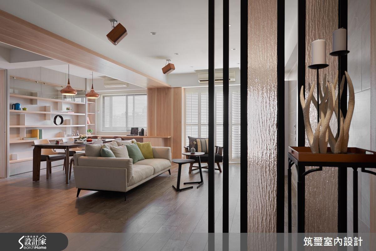 40坪老屋(16~30年)_混搭風客廳餐廳書房案例圖片_筑璽室內設計_筑璽_18之3