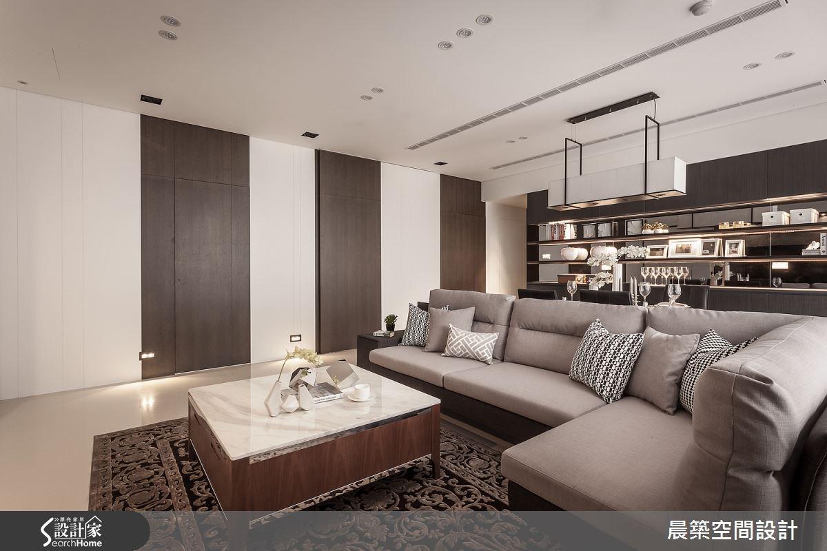 50坪新成屋(5年以下)_現代風客廳案例圖片_晨築空間設計_晨築_02之2