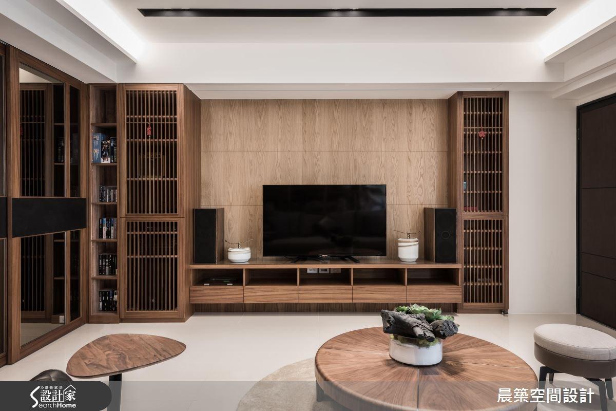 48坪新成屋(5年以下)_現代風客廳案例圖片_晨築空間設計_晨築_04之1