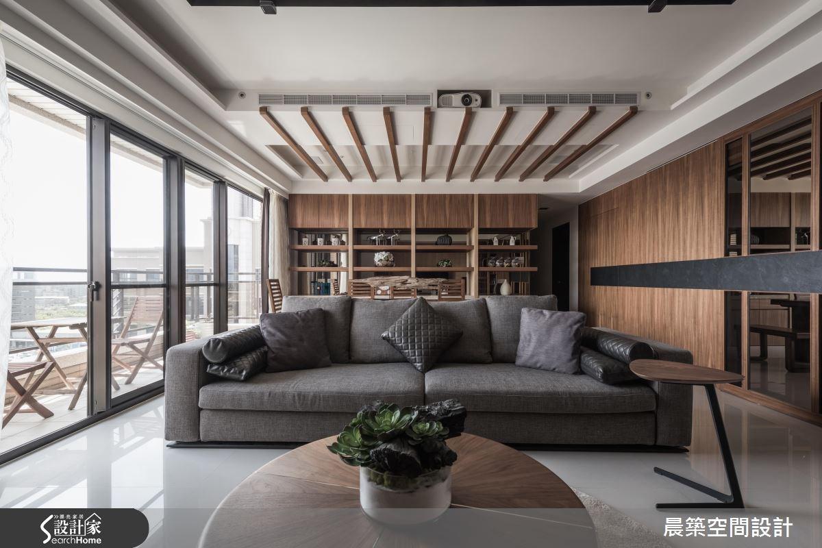 48坪新成屋(5年以下)_現代風客廳案例圖片_晨築空間設計_晨築_04之2