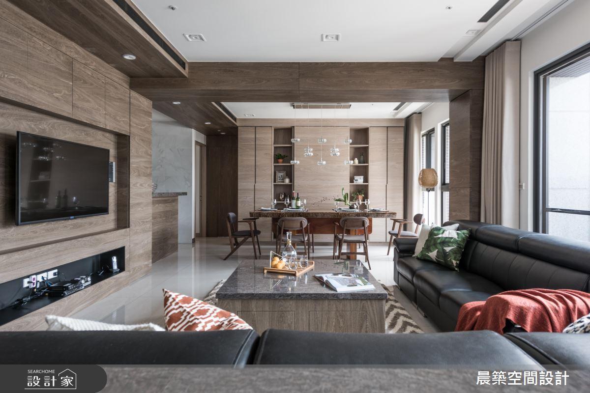 讓餐廚放大變 2 倍! 大空間感、好採光的 48 坪現代風宅