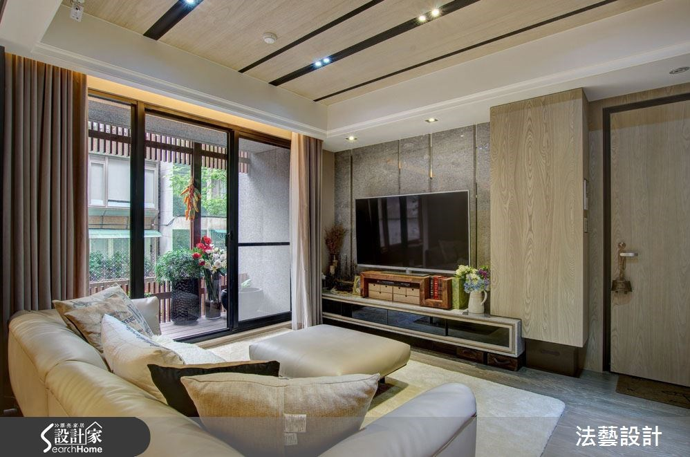 38坪新成屋(5年以下)_混搭風客廳案例圖片_法藝設計_法藝_02之2