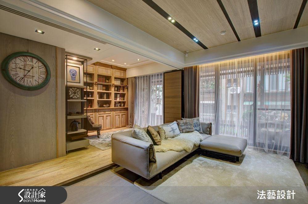 38坪新成屋(5年以下)_混搭風客廳書房案例圖片_法藝設計_法藝_02之4