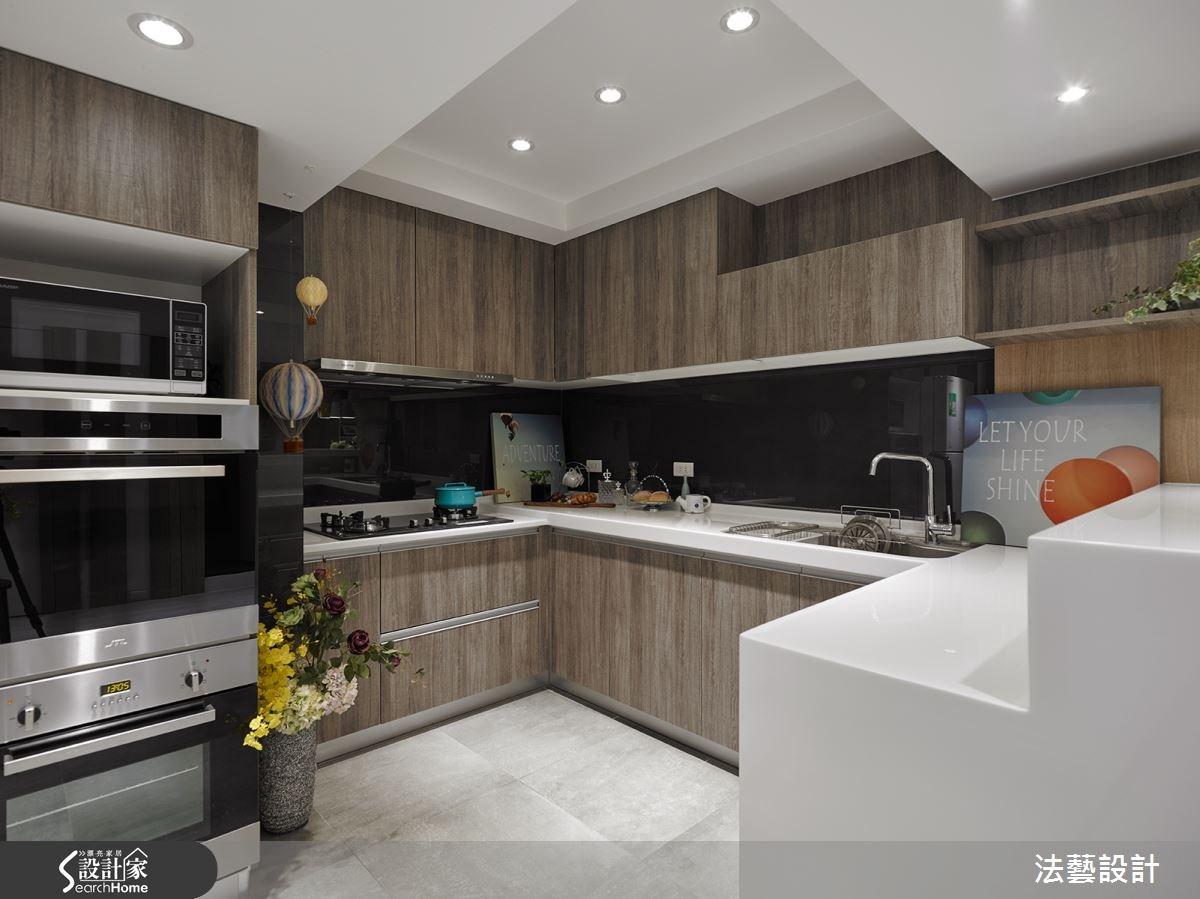28坪中古屋(5~15年)_北歐風廚房案例圖片_法藝設計_法藝_03之13