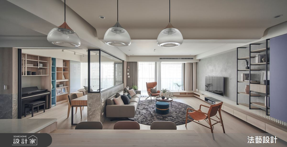 50坪新成屋(5年以下)_北歐風客廳案例圖片_法藝設計_法藝_10之2