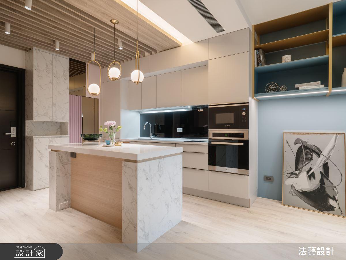 11坪新成屋(5年以下)_現代風廚房中島案例圖片_法藝設計_法藝_13之4