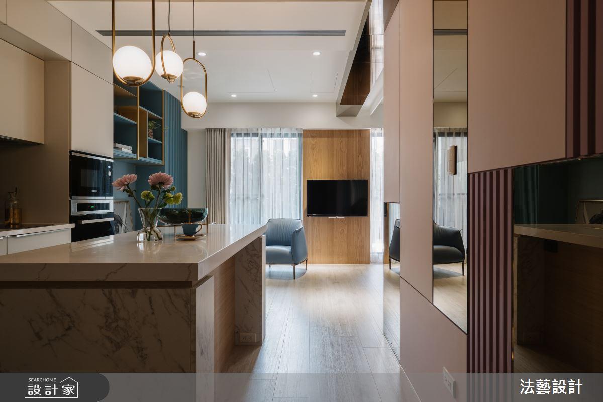 11坪新成屋(5年以下)_現代風廚房案例圖片_法藝設計_法藝_13之2
