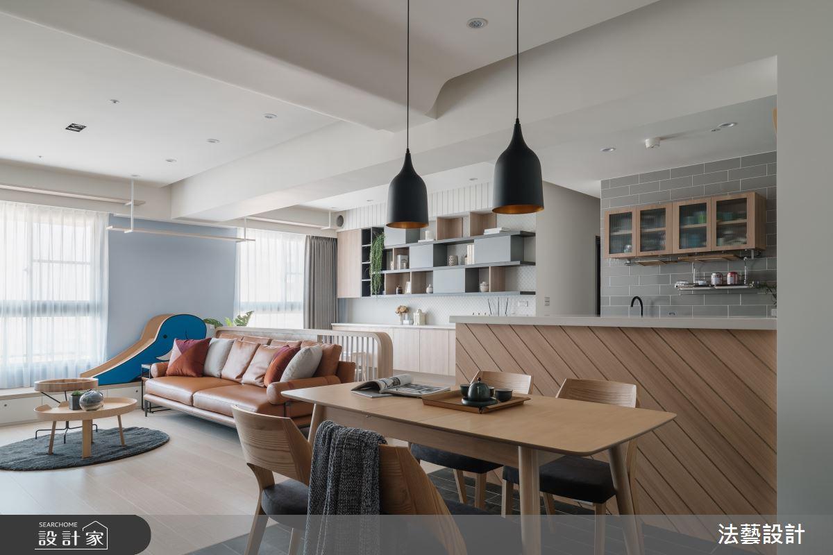 29坪新成屋(5年以下)_北歐風餐廳案例圖片_法藝設計_法藝_18之2