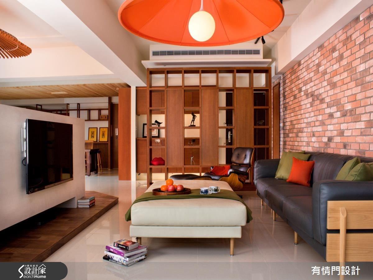 45坪新成屋(5年以下)_新中式風客廳案例圖片_有情門_有情門_04之2