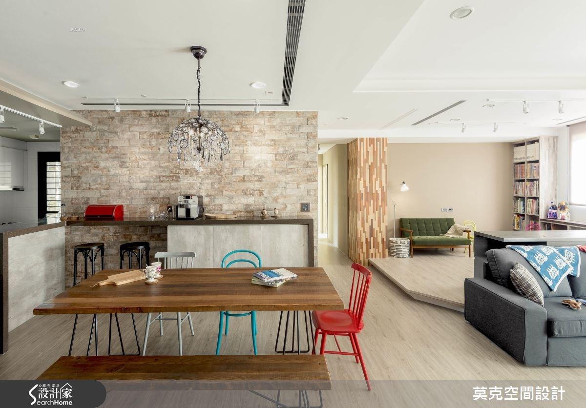 35坪新成屋(5年以下)_北歐風餐廳吧檯案例圖片_莫克空間設計/莫國箴建築師事務所_莫克_02之3