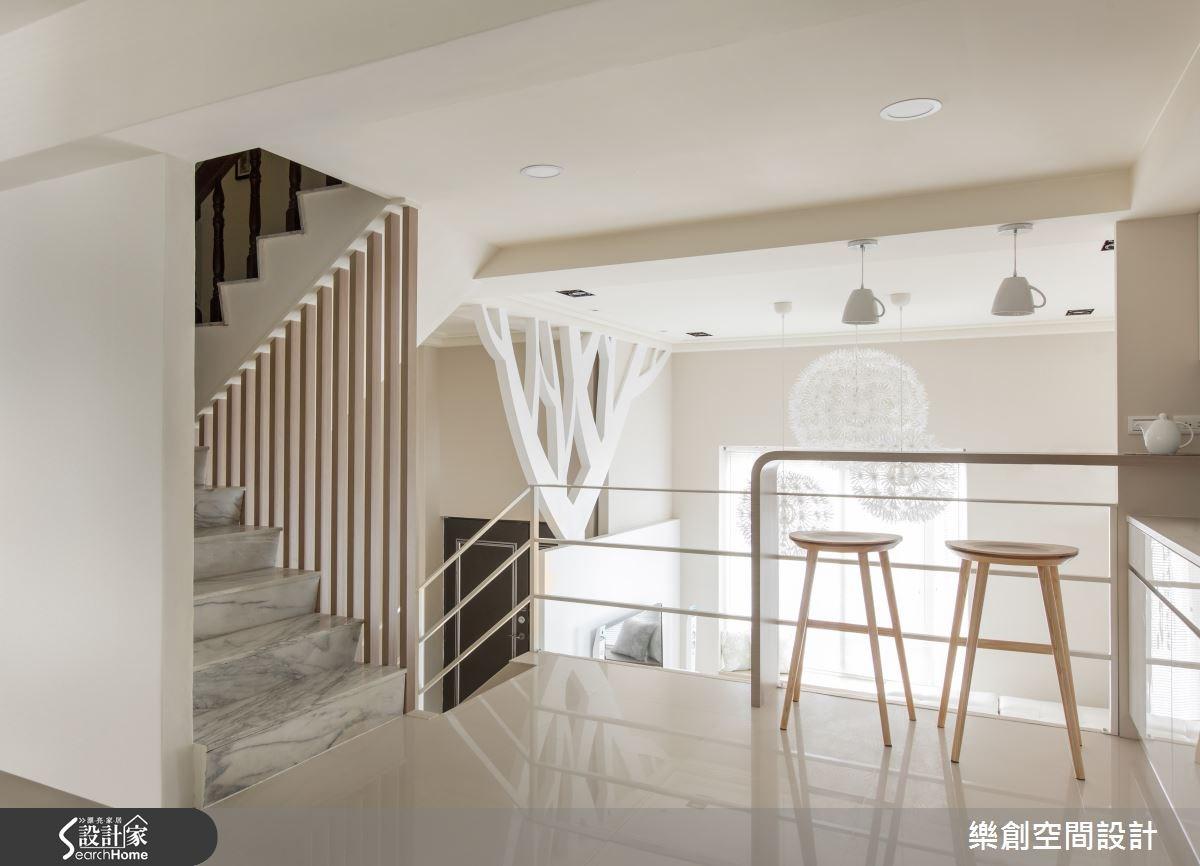 老屋(16~30年)_北歐風吧檯樓梯案例圖片_樂創空間設計_樂創_03之22