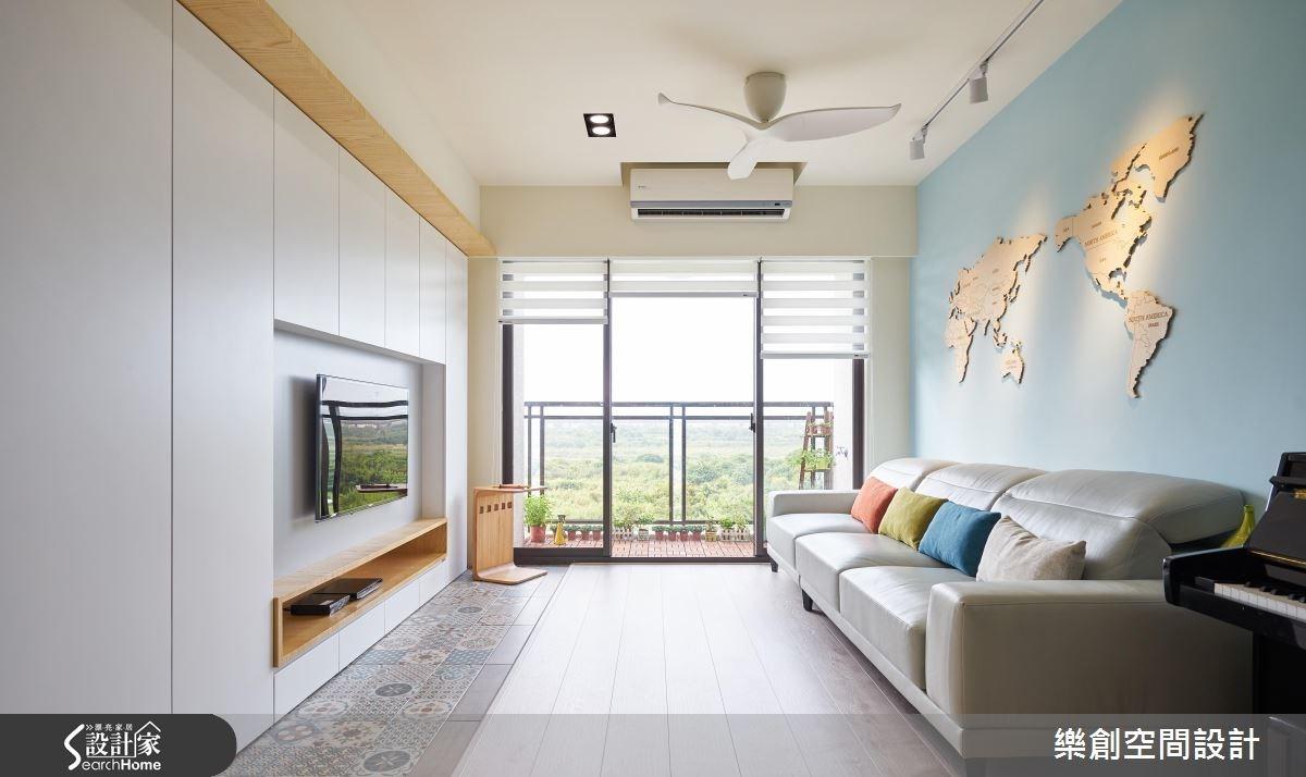20坪新成屋(5年以下)_北歐風客廳案例圖片_樂創空間設計_樂創_05之3