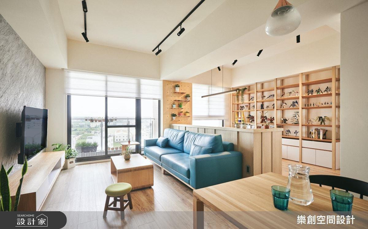 20坪新成屋(5年以下)_北歐風客廳案例圖片_樂創空間設計_樂創_11之3