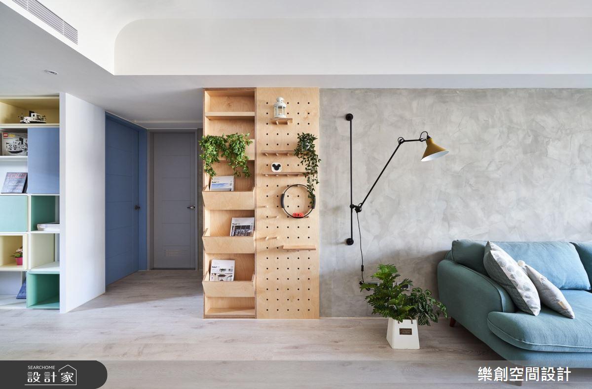 22坪新成屋(5年以下)_北歐風客廳案例圖片_樂創空間設計_樂創_17之7
