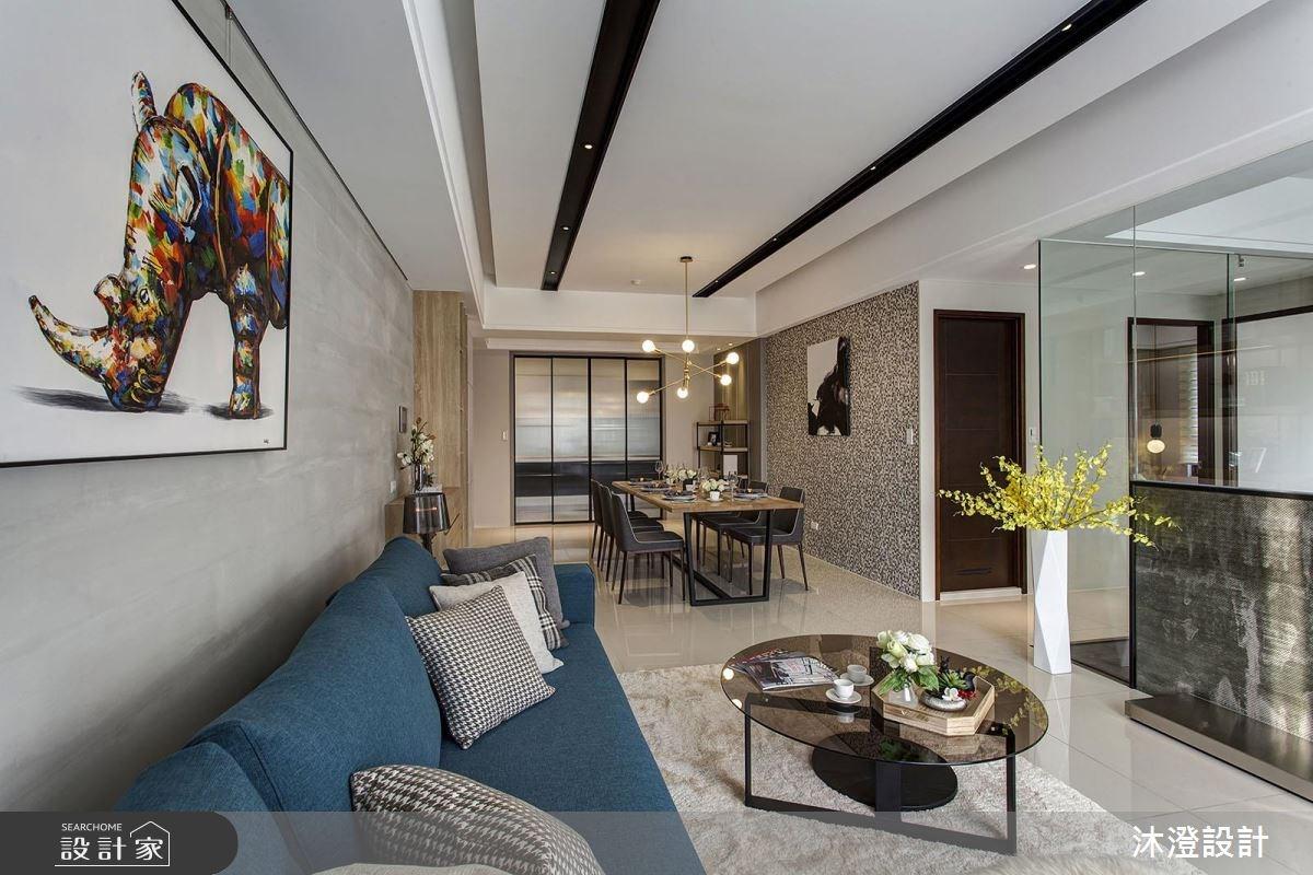 68坪新成屋(5年以下)_現代風客廳案例圖片_沐澄設計有限公司_沐澄_32之4
