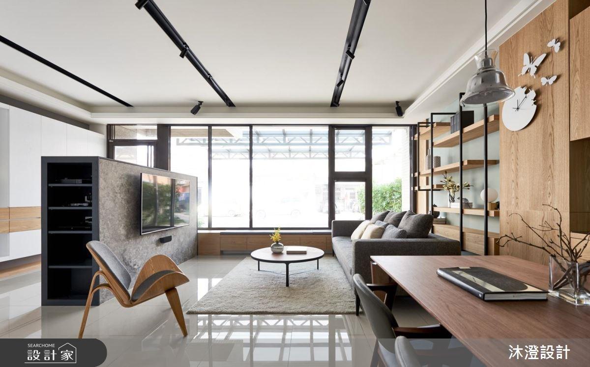32坪新成屋(5年以下)_現代風客廳案例圖片_沐澄設計有限公司_沐澄_36之1