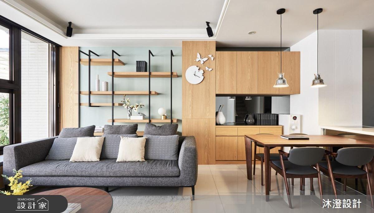 32坪新成屋(5年以下)_現代風客廳餐廳案例圖片_沐澄設計有限公司_沐澄_36之4