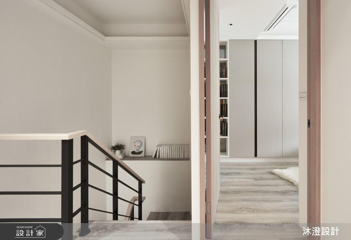32坪新成屋(5年以下)_現代風樓梯案例圖片_沐澄設計有限公司_沐澄_36之12