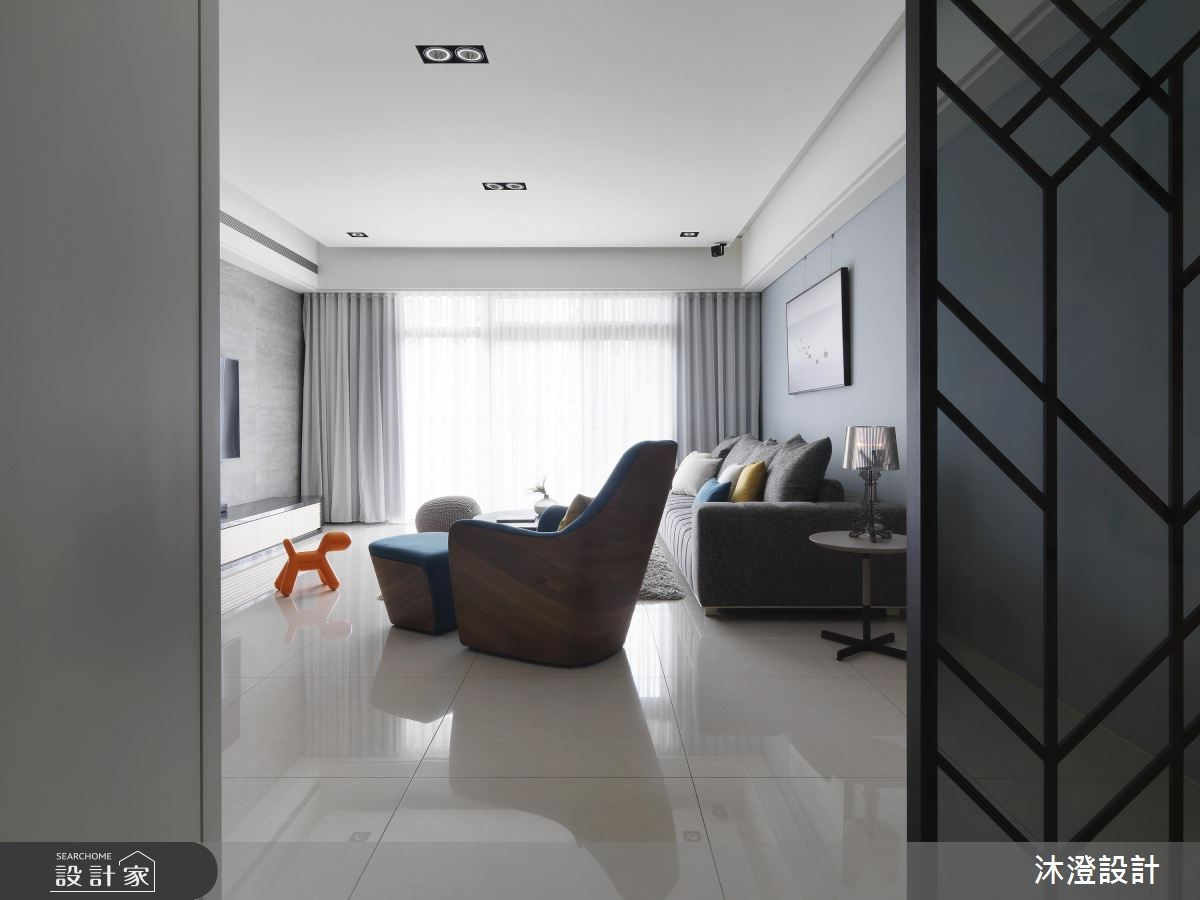 68坪新成屋(5年以下)_現代風客廳案例圖片_沐澄設計有限公司_沐澄_40之2
