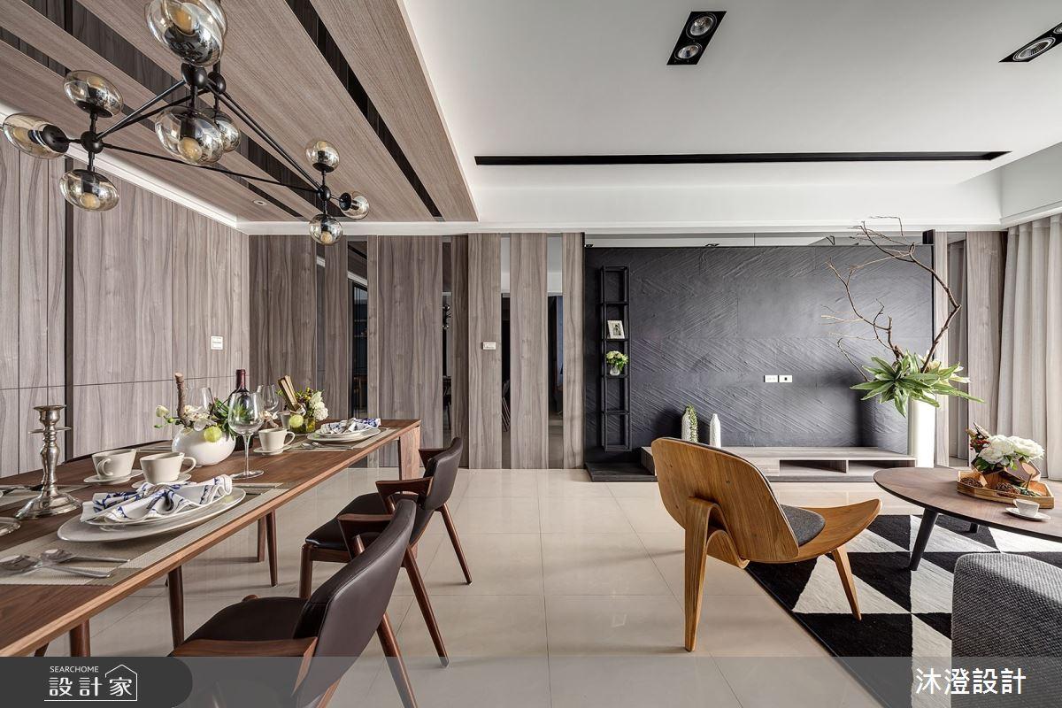 52坪新成屋(5年以下)_現代風客廳餐廳案例圖片_沐澄設計有限公司_沐澄_51之1