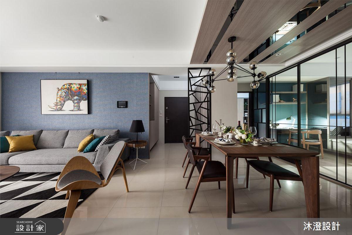 52坪新成屋(5年以下)_現代風客廳餐廳案例圖片_沐澄設計有限公司_沐澄_51之4