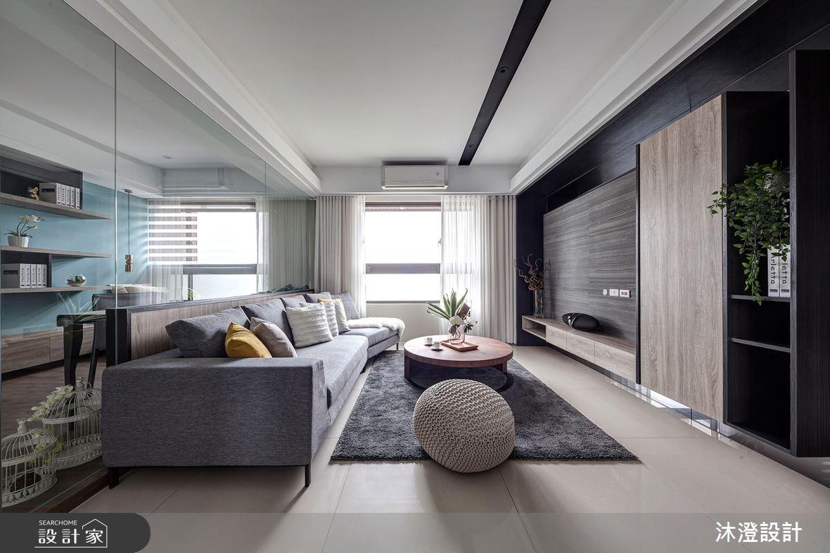 42坪新成屋(5年以下)_現代風客廳案例圖片_沐澄設計有限公司_沐澄_52之2
