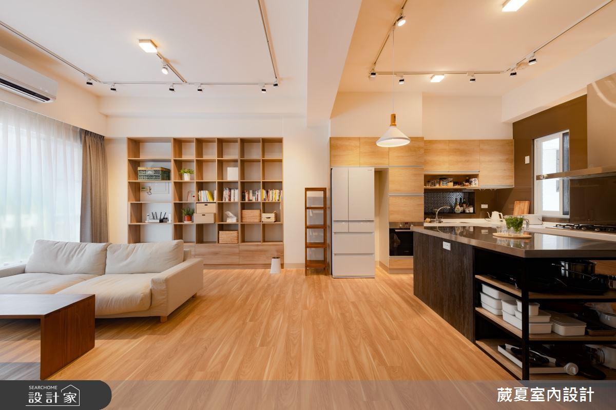 120坪新成屋(5年以下)_日式無印風客廳中島案例圖片_葳夏室內設計_葳夏_02之1