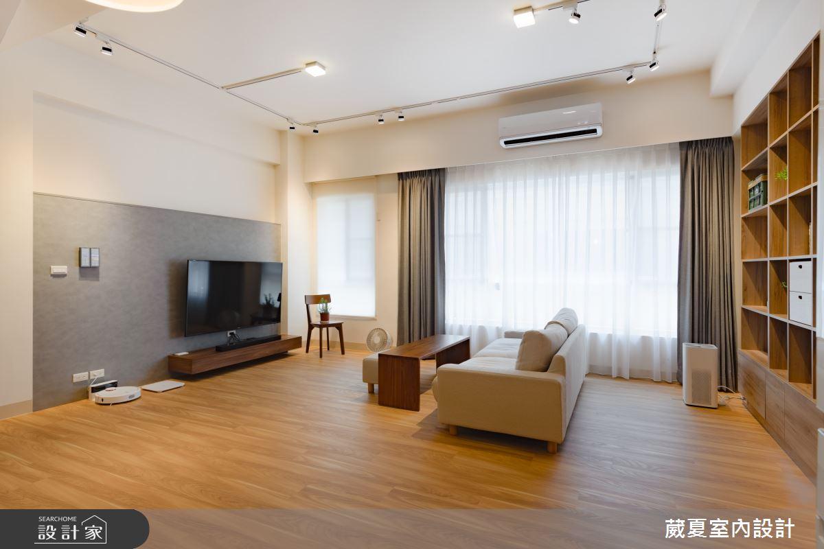120坪新成屋(5年以下)_日式無印風客廳案例圖片_葳夏室內設計_葳夏_02之4
