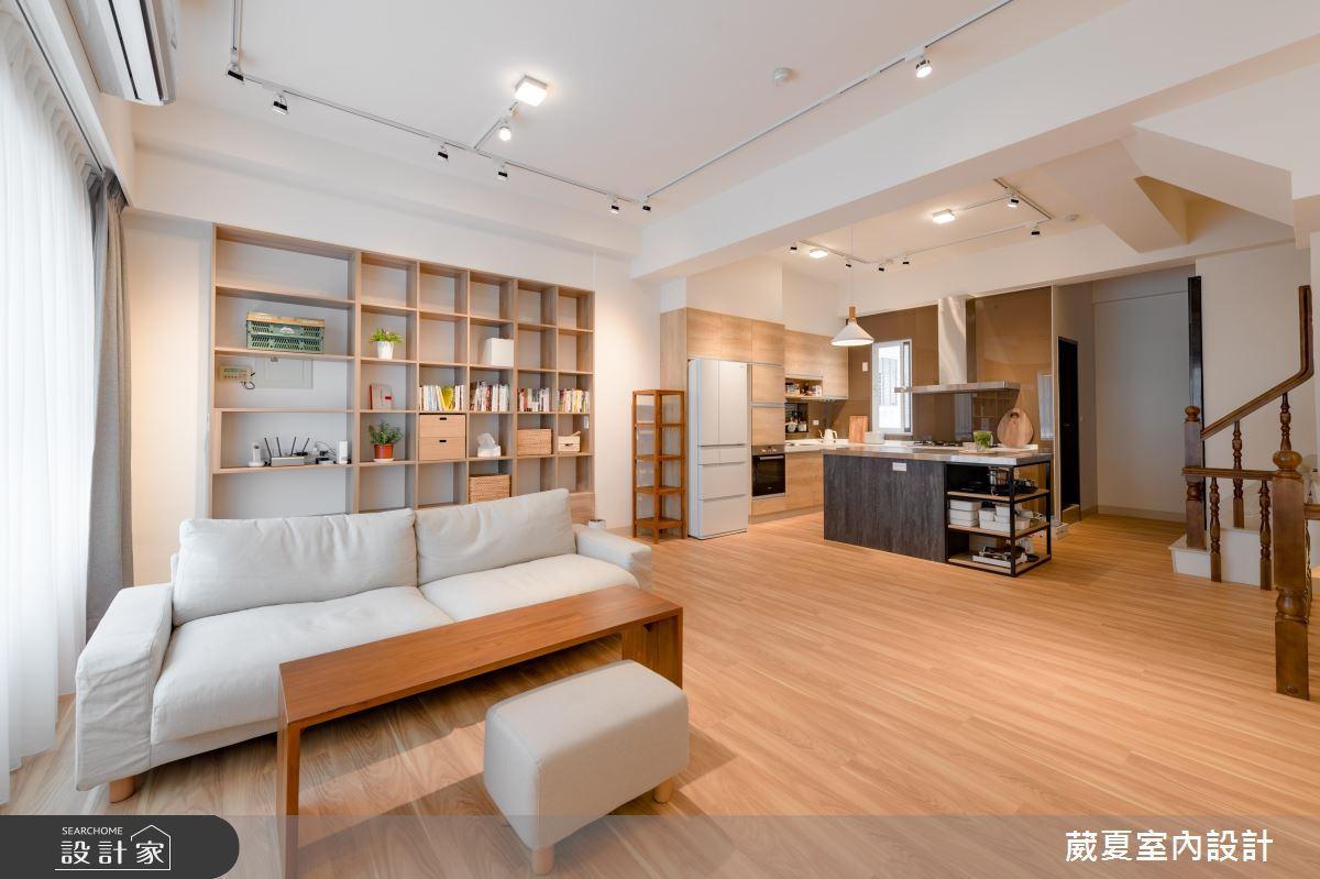 120坪新成屋(5年以下)_日式無印風客廳中島案例圖片_葳夏室內設計_葳夏_02之2