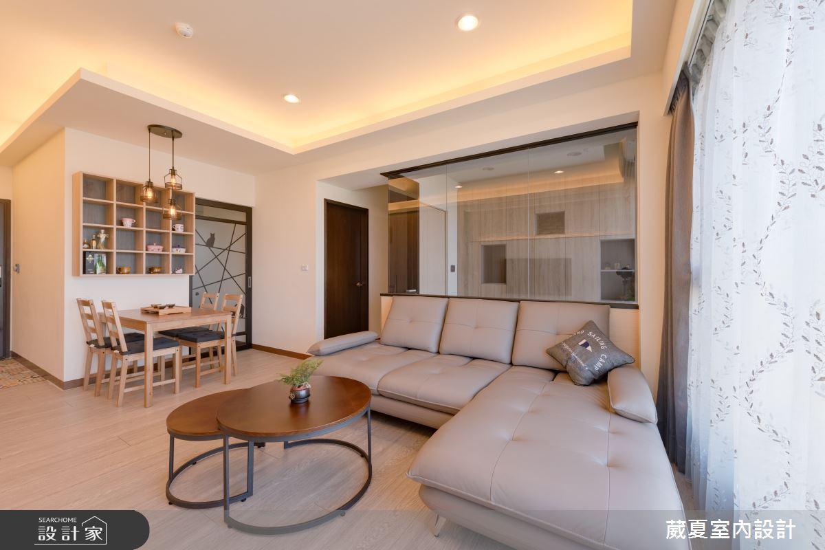 45坪新成屋(5年以下)_簡約風客廳餐廳案例圖片_葳夏室內設計_葳夏_03之3