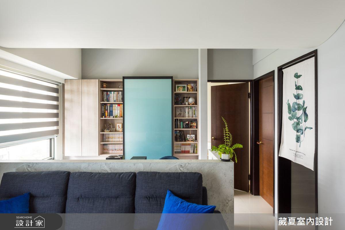 35坪新成屋(5年以下)_混搭風客廳案例圖片_葳夏室內設計_葳夏_04之4
