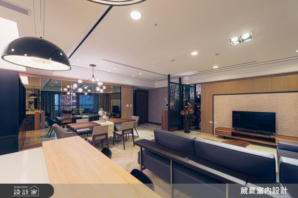 90坪新成屋(5年以下)_混搭風客廳案例圖片_葳夏室內設計_葳夏_05之4