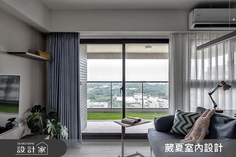 28坪新成屋(5年以下)_北歐風客廳案例圖片_葳夏室內設計_葳夏_10之6