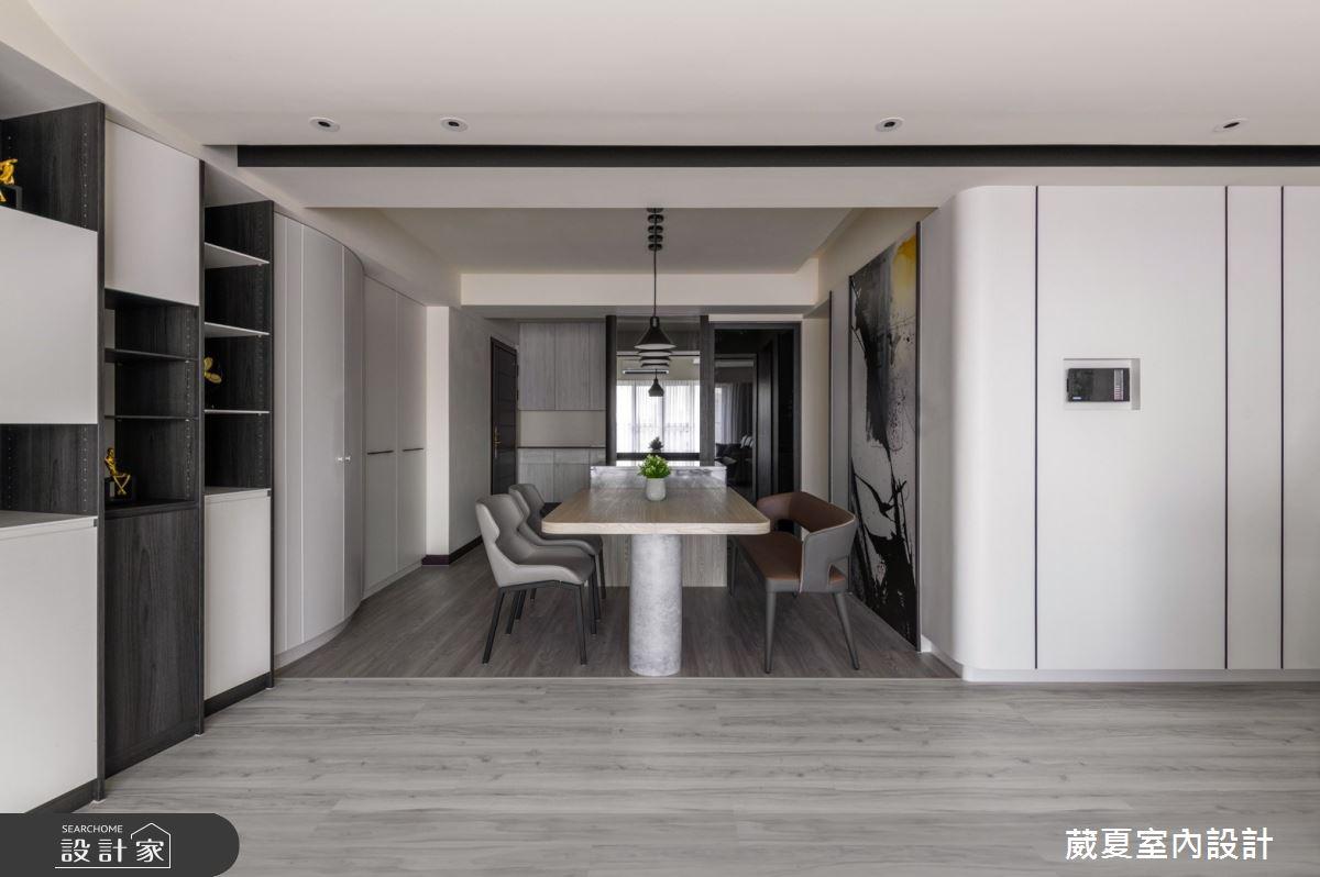 66坪新成屋(5年以下)_現代風餐廳案例圖片_葳夏室內設計_葳夏_12之4