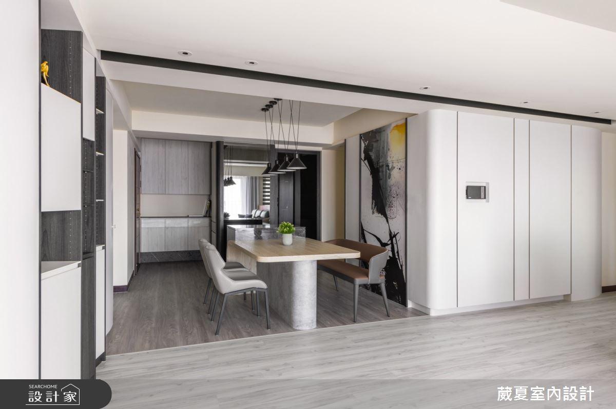 66坪新成屋(5年以下)_現代風餐廳案例圖片_葳夏室內設計_葳夏_12之3