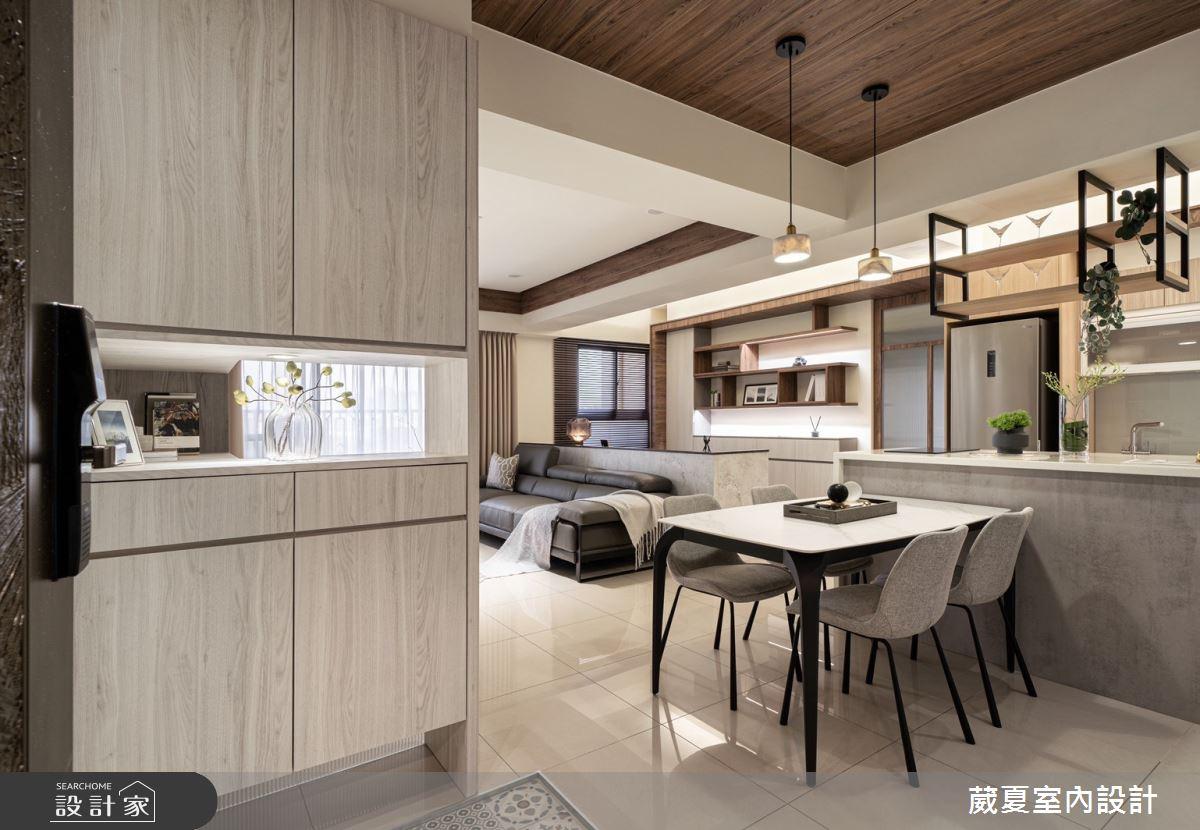 40坪新成屋(5年以下)_現代風玄關餐廳案例圖片_葳夏室內設計_葳夏_17之2